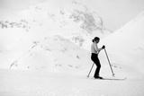 Lady Skier Photographic Print
