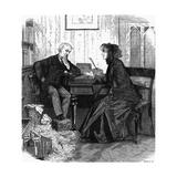 Lawyer and Client, 1881 Lámina giclée