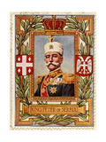 Peter I King of Serbia, Stamp Giclee Print