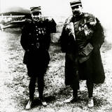 WW1 - Lieu Guynemer and Capitaine Brocard after 5th Victory Reproduction photographique