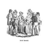 Blind Hannah Brentford, 1827 Giclée-tryk