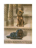 Two Dogs on a Staircase Giclee Print