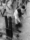 Calcutta Hindu Rite Impressão fotográfica