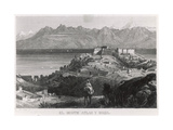 Bejaia and the Atlas Mountains Giclée-tryk