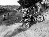 Motocross Scrambling Fotografie-Druck