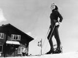 Blonde Ski Model Lámina fotográfica