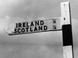 Scotland Ireland Sign Fotoprint