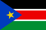 South Sudan Country National Flag Print Poster Billeder
