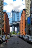 Manhattan Bridge DUMBO Brooklyn Cobblestone Street Photo Poster Poster
