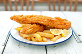 Traditional English Fish and Chips Photographic Print by  Pixelbliss