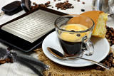 Ebook Breakfast Photographic Print by  Graphicstockphoto