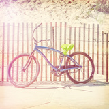 Bicycle Parked along the Beach Photographic Print by  soupstock