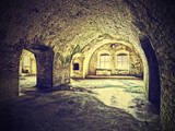 Vintage Picture of Dungeon, Cellar in Retro Style. Photographic Print by Maciej Bledowski