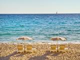 La Croisette Beach, Cannes, Cote D'azur, France Photographic Print by John Harper
