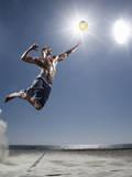 Male Beach Volleyball Fotografisk tryk af Patrik Giardino