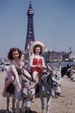Donkey Rides at Blackpool Stampa fotografica di John Chillingworth