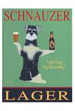 Schnauzer Lager Reproduction pour collectionneur par Ken Bailey