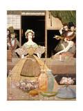 Poe, Tales, Marie Roget Gicléetryck av Harry Clarke