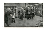 Queen Victoria's Coffin at Paddington Station Giclee Print by H.m. Paget