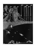 Poe, Tales, Pit and Pendulum Gicléetryck av Harry Clarke