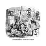 The Old Curiosity Shop, the Punch and Judy People Reproduction procédé giclée par Hablot Browne