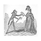 Bribing Caroline Lámina giclée por George Cruikshank