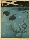Mermaids and U-Boats Reproduction procédé giclée par Georges Barbier