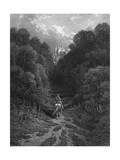Lancelot at Astolat Giclee-trykk av Gustave Doré