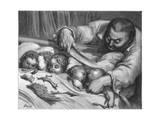 Hop O' My Thumb Giclee-trykk av Gustave Doré
