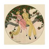 Couple in Tree 1914 Reproduction procédé giclée par Gerda Wegener