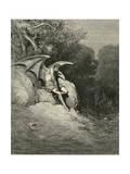 Satan Schemes Giclee-trykk av Gustave Doré