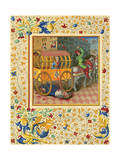 Tullia Crushes Father Giclee Print by Jean Fouquet