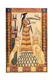 Cretan Snake Goddess Giclée-tryk af John Duncan