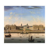 A View of Greenwich Hospital Giclée-tryk af John Paul