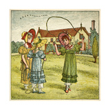 Three Girls with Skipping Ropes Giclee-trykk av Kate Greenaway
