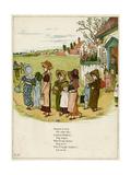 Children Coming Out of School Giclee-trykk av Kate Greenaway