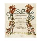 Language of Flowers Giclee-trykk av Kate Greenaway