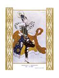 La Peri, Ballet Russes Giclee-trykk av Leon Bakst