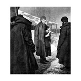 Tolstoy and Peasants Giclee Print by Kenyon Cox
