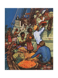 Taking on Fruit Supplies Giclee Print by Kenneth D Shoesmith
