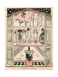 Brothel as Dolls House Giclee Print by Lucien Metivet