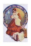 19th Century Mother and Baby Giclee Print by Lilian Rowles
