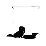 Koko the Pekinese Dog with Jack Sparrow Reproduction procédé giclée par Mary Baker