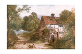 Rural Surrey Cottage Reproduction procédé giclée par Myles Birket Foster