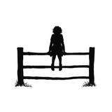 Susan Sits Alone on the Fence Reproduction procédé giclée par Mary Baker
