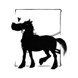 Jack Sparrow and the Horse Reproduction procédé giclée par Mary Baker