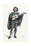 French Theatre, La Roze Giclee Print by Maurice Sand