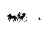 Dunderpate Runs after a Coach and Horses Reproduction procédé giclée par Mary Baker