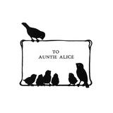 Birds on Dedication Page Reproduction procédé giclée par Mary Baker