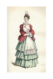 Moliere, Precieuses Giclee Print by Maurice Sand